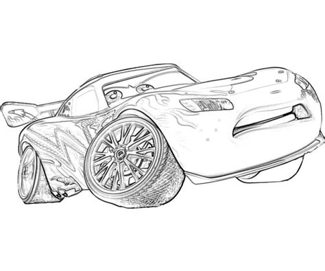 lightning mcqueen coloring pages  print