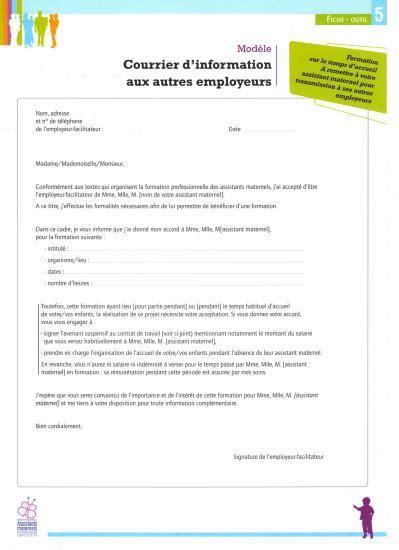 modele lettre de licenciement assistant maternelle remise en propre modele lettre licenciement assistant maternelle remise en