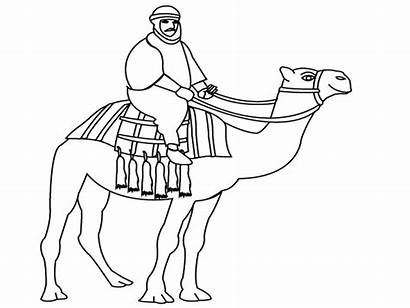 Coloring Camel Desert Pages Drawing Riding Animal