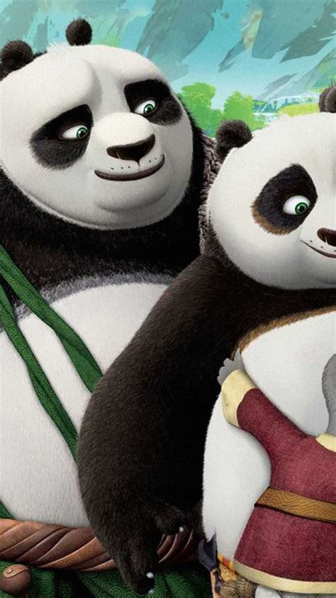 wallpaper kung fu panda  po family movies