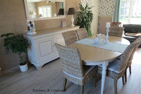 repeindre ses meubles de cuisine en bois salle à manger en merisier relookée patines couleurs