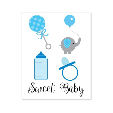 boy baby shower clipart print  baby