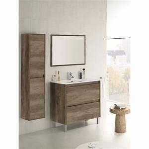 set de meuble sous lavabo avec 2 tiroirs colonne With meuble salle de bain sous lavabo avec colonne