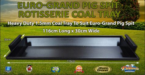 euro grand pig spit rotisserie coal tray