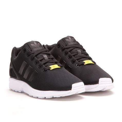 adidas zx flux black black white