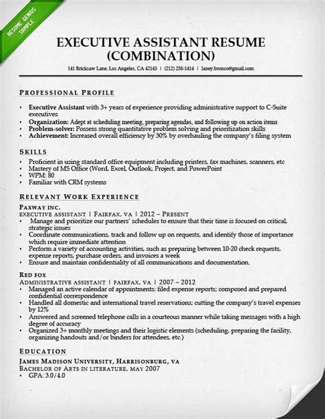 Sle Of Executive Assistant Resume 25 best ideas about executive administrative assistant on