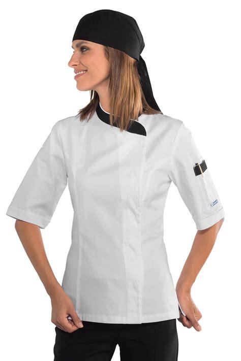 femme cuisine veste cuisine femme blanche et 100 coton vestes