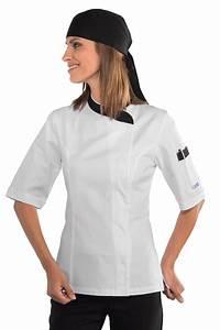 Tenue De Cuisine Femme : veste cuisine femme blanche et noire 100 coton vestes de cuisine femme ~ Teatrodelosmanantiales.com Idées de Décoration