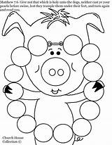 Coloring Necklace Pearls Pages Pearl Pig Matthew Jewelry Printable Swine Before Cast Print Getcolorings Neither Getcoloringpages sketch template