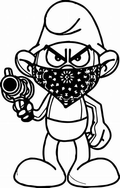 Coloring Pages Gangster Mickey Mouse Gangsta Thug