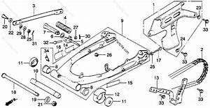 Honda Motorcycle 1978 Oem Parts Diagram For Swingarm