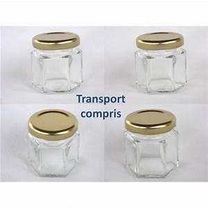 Pot Verre Couvercle : petits pots hexagonaux 47 ml avec couvercle au choix livraison 72 heures ~ Teatrodelosmanantiales.com Idées de Décoration