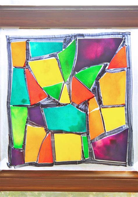 stained glass pasta fun family crafts