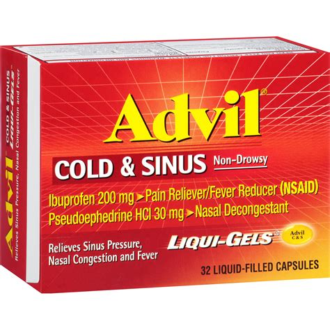 Advil Cold And Sinus Side Effects Warnings And Usage