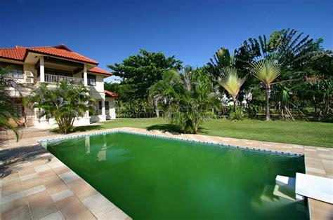 house  big swimming pool stock image image   backyard