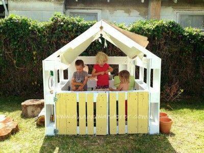 Spielhaus Aus Paletten  Kita Pinterest