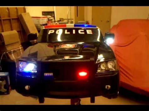 kid trax ride  dodge charger police car  led police