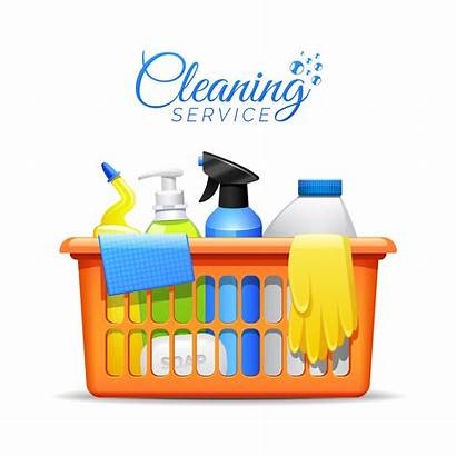 Cleaning Household Vector Illustration Clipart Clean Basket