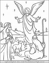 Coloring Angels Angel Pages Shepherds Nativity Gloria Christmas Printable Sheets Sunday Thecatholickid Books sketch template