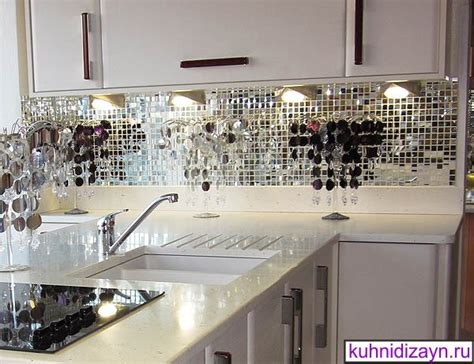 mirror tiles kitchen зеркальный фартук для кухни фото и дизайн 4156