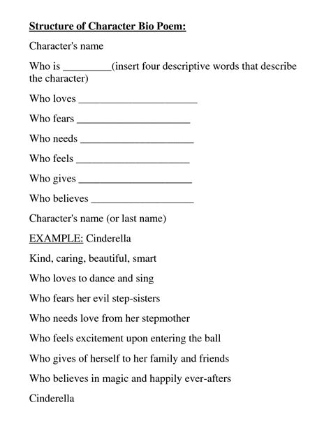 character bio template 16 best images of bio poem worksheet biography template