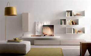Etagere Salon Design : d coration int rieur salon blanc 48 id es de d co moderne ~ Teatrodelosmanantiales.com Idées de Décoration