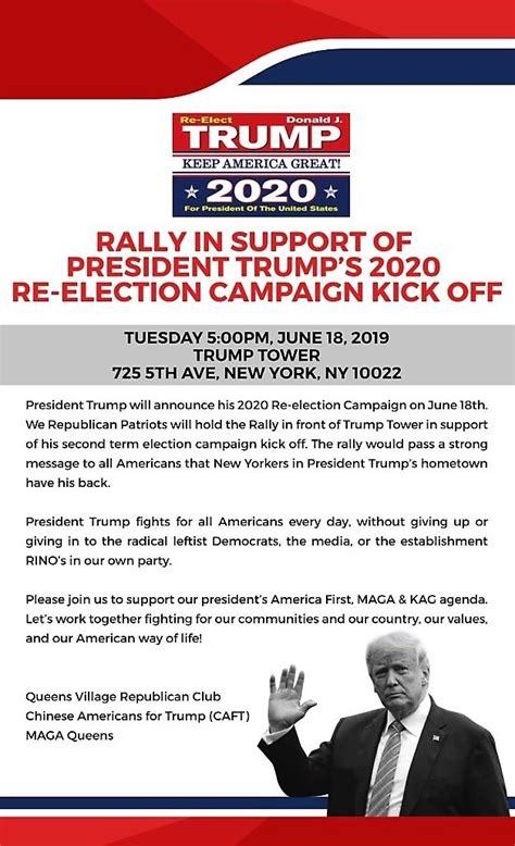 trump rally election campaign kick re celebration republican club