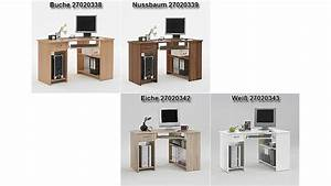 Eck Pc Tisch : computertisch felix 1 eck schreibtisch pc tisch in wei ~ Indierocktalk.com Haus und Dekorationen