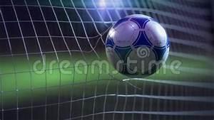 Soccer Ball Breaking The Net - Slow Motion Stock Video ...