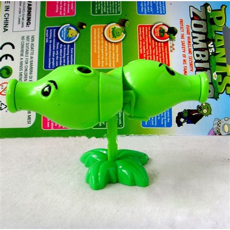 cheap plants  zombies toys split peashooter abs shooting