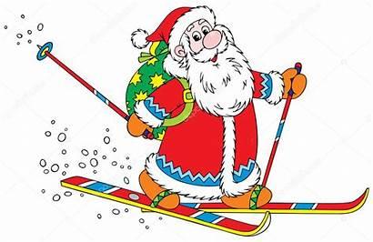 Weihnachtsmann Skifahrer Claus Santa Skier Babbo Sciatore