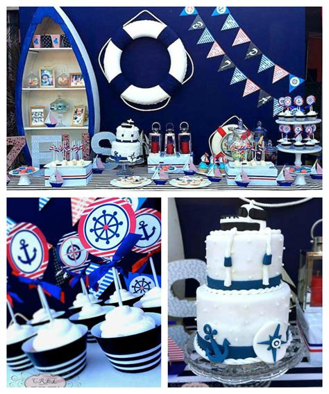 karas party ideas nautical themed  birthday party