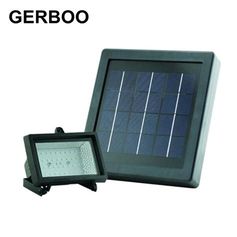 gerboo solar led light outdoor garden wall spotlights