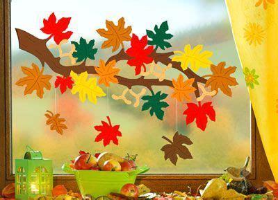 Herbstdeko Fenster Kita by Fensterbild Zweig Mit Bl 228 Ttern Erstellen Fensterbilder