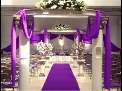diy church wedding decorating ideas youtube