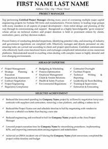 Top Project Manager Resume Templates Samples