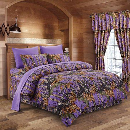 38929 camo bedding sets regal comfort the woods purple camouflage 5pc premium