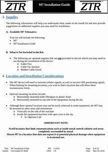 Tr Controls M7l M7 Lte Vehicle Telematics Unit User Manual
