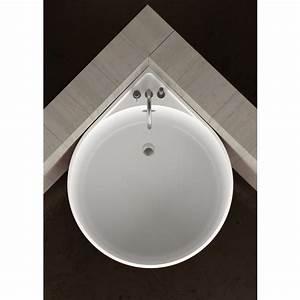 Baignoire D39angle Ronde MINI WHITE By Glass Design Design