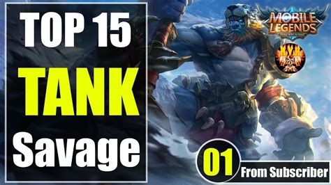 Mobile Legends Top 15 Tank And Support Savage Moments
