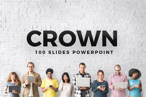 crown powerpoint template  templates