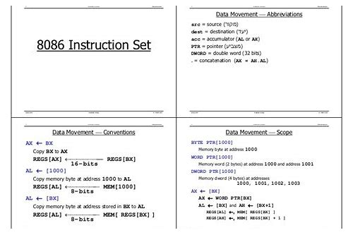 8086 microprocessor instruction set ppt free download