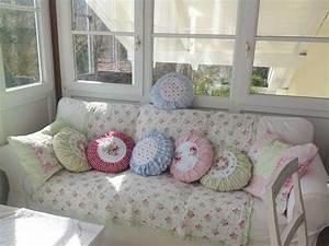 Runde Tischdecken Landhausstil : dots fortune pillows shabby chic mode kissen basteln ~ Watch28wear.com Haus und Dekorationen
