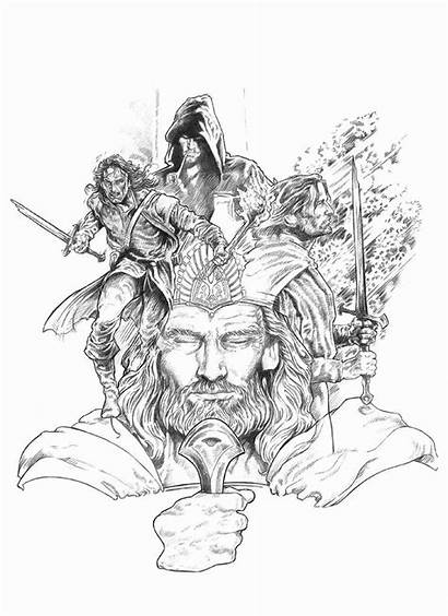 Aragorn Deviantart Lord Coloring Rings Hobbit Nachocastro