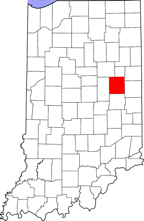 File:Map of Indiana highlighting Delaware County.svg ...