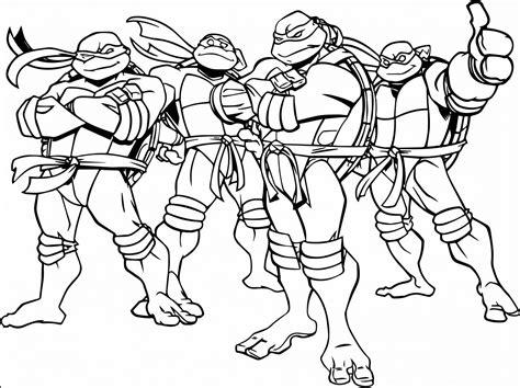 8 Teenage Mutant Ninja Turtle Coloring Sheets Printable en