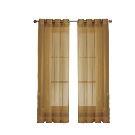 window elements sheer elegance 84 in l grommet curtain
