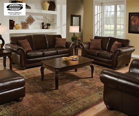 Simmons Leather Furniture Living Room Set Simmons Leather