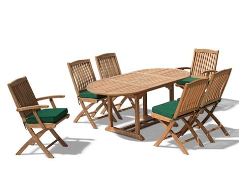 Bijou Outdoor Extending Garden Table And Folding Chairs