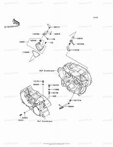 Kawasaki Atv 2003 Oem Parts Diagram For Gear Change Mechanism